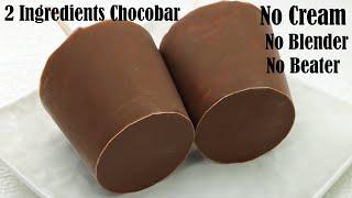 CHOCOLATY CHOCO BAR ICE CREAM RECIPE  NO CREAM &amp EGG  WITHOUT CONDENSED MILK AND ICE CREAM MAKER