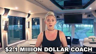 $2.1 Million Dollar RV Tour | Full Tour Inside Of A Prevost Luxury Class A Video