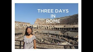 Travel with ZZ | Three days in Rome, Italy.