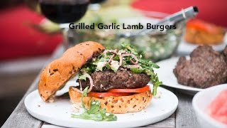 Grilled Garlic Lamb Burgers