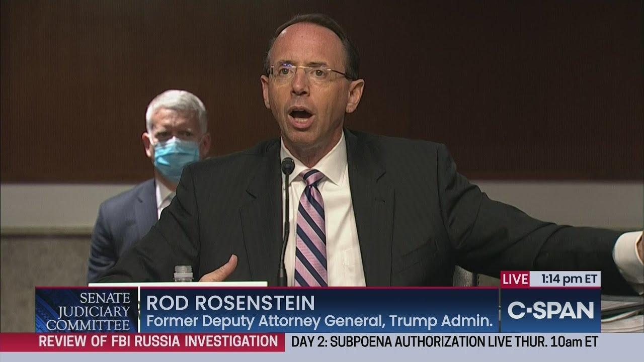 Rod Rosenstein testimony: Ex-deputy AG acknowledges problems ...