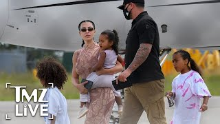 Kim kardashian, kanye west and their brood have left the dominican republic just touched down in miami ... we're told this isn't end of mak...