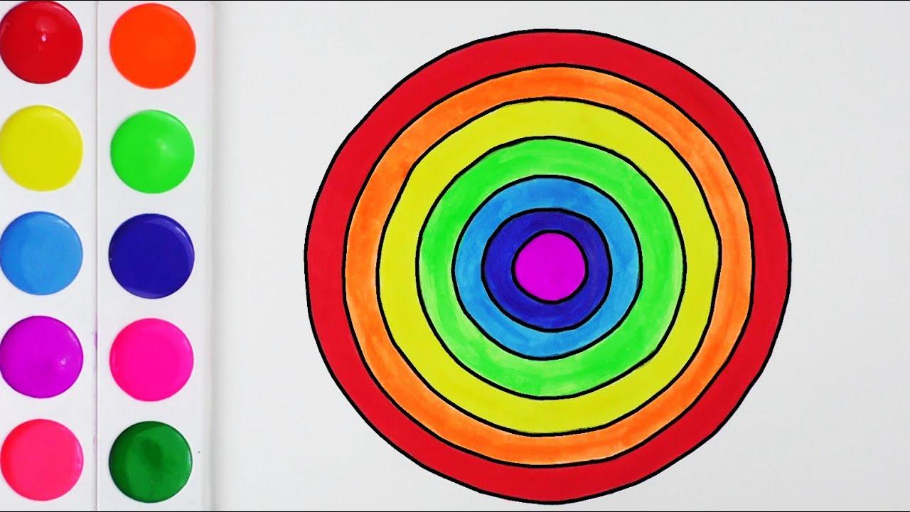 Aprende Los Colores Con Círculo Arte Y Colores Para Niños Cómo