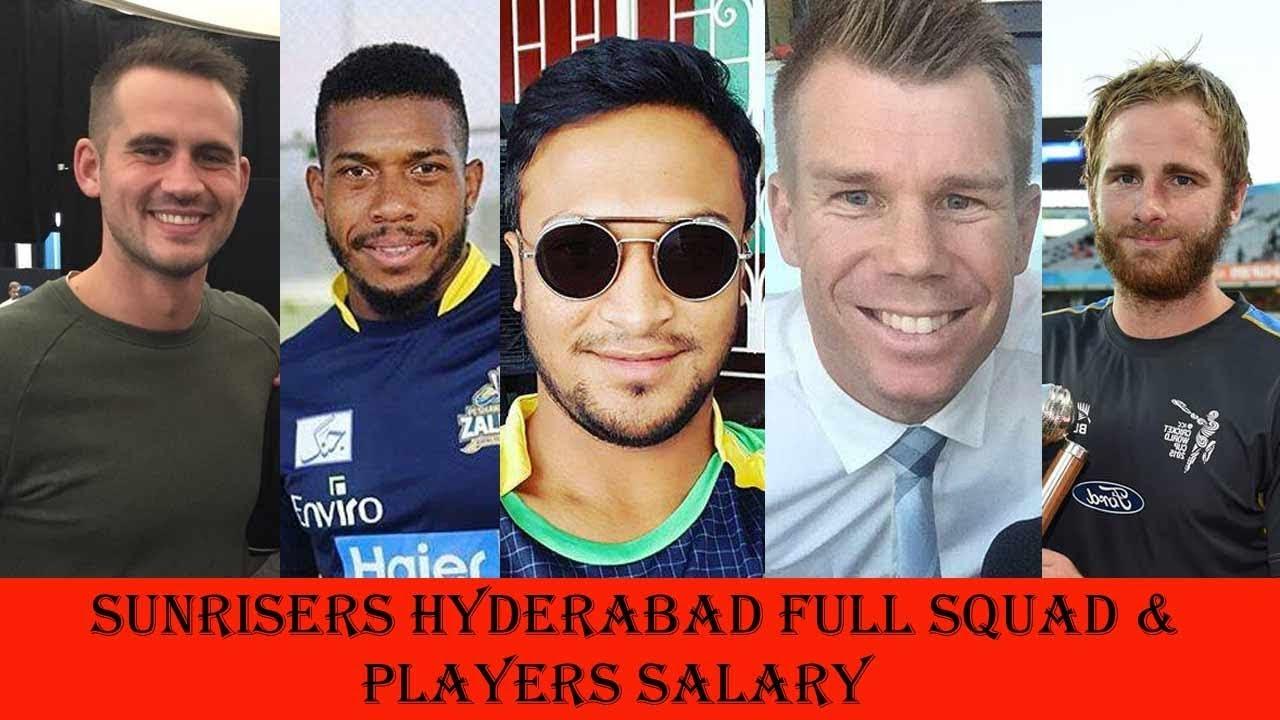 sunrisers hyderabad team players salary in ipl 2018 youtube