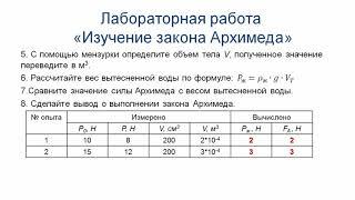Физика 7 класс, 3 - четверть