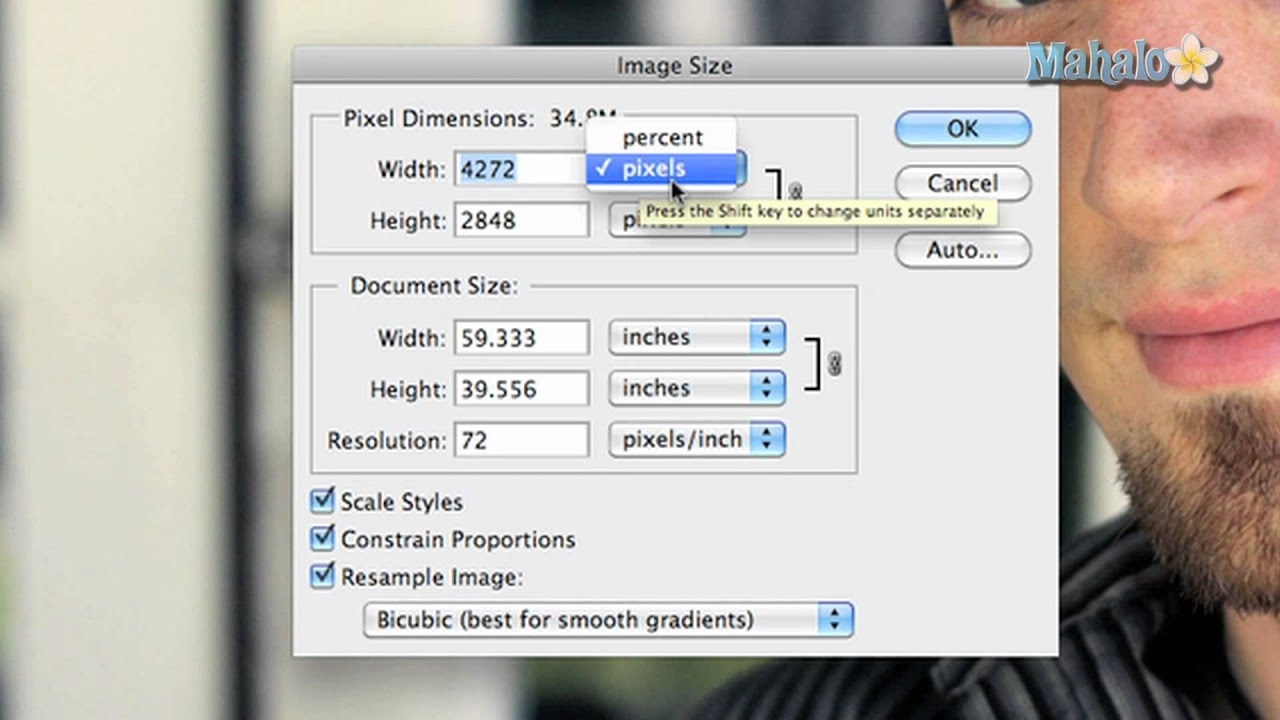 Learn Adobe Photoshop Image Size Options Youtube