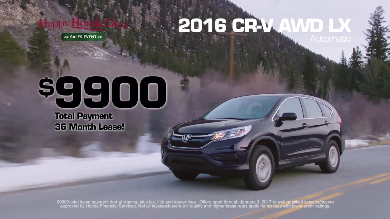 Honda North Cr V Awd Lx Total Lease 9900 For 36 Months