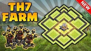 O Melhor Layout Cv7 Com (Três) Defesas Aéreas - Clash Of Clans !!