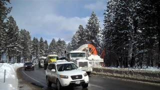 Caltrans Snow Blower Loading dump truck in South Lake Tahoe