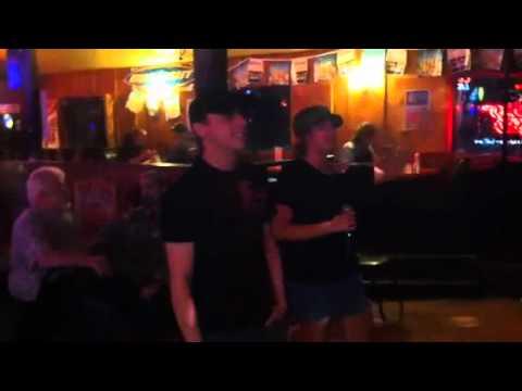Yukon Jack's karaoke David and Sally sing picture