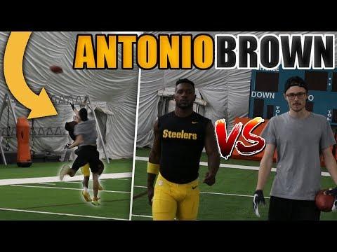 1 V 1 FOOTBALL VS NFL SUPERSTAR ANTONIO BROWN!! I PICKED HIM OFF!!