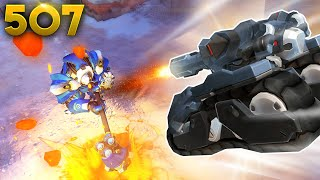 900IQ Tank Jump!! | Overwatch Daily Moments Ep.507 (Funny and Random Moments)