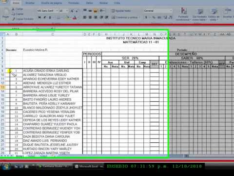 Cuadros En Excel 2007 1 Wmv Taller 3 Youtube
