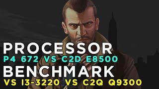 GTA 4 2008 Benchmark - Pentium 4 672 vs Core 2 Duo E8500 vs Core i3 3220 vs Core 2 Quad Q9300