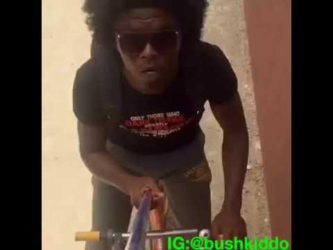Bushkiddo Selfie stick struggle