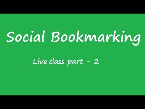 Social Bookmarking Live Class  - Pinterest Marketing and StumbleUpon