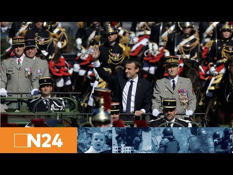 N24 Nachrichten - Meister der Selbstinszenierung: Neben Macron sieht selbst Trump blass aus