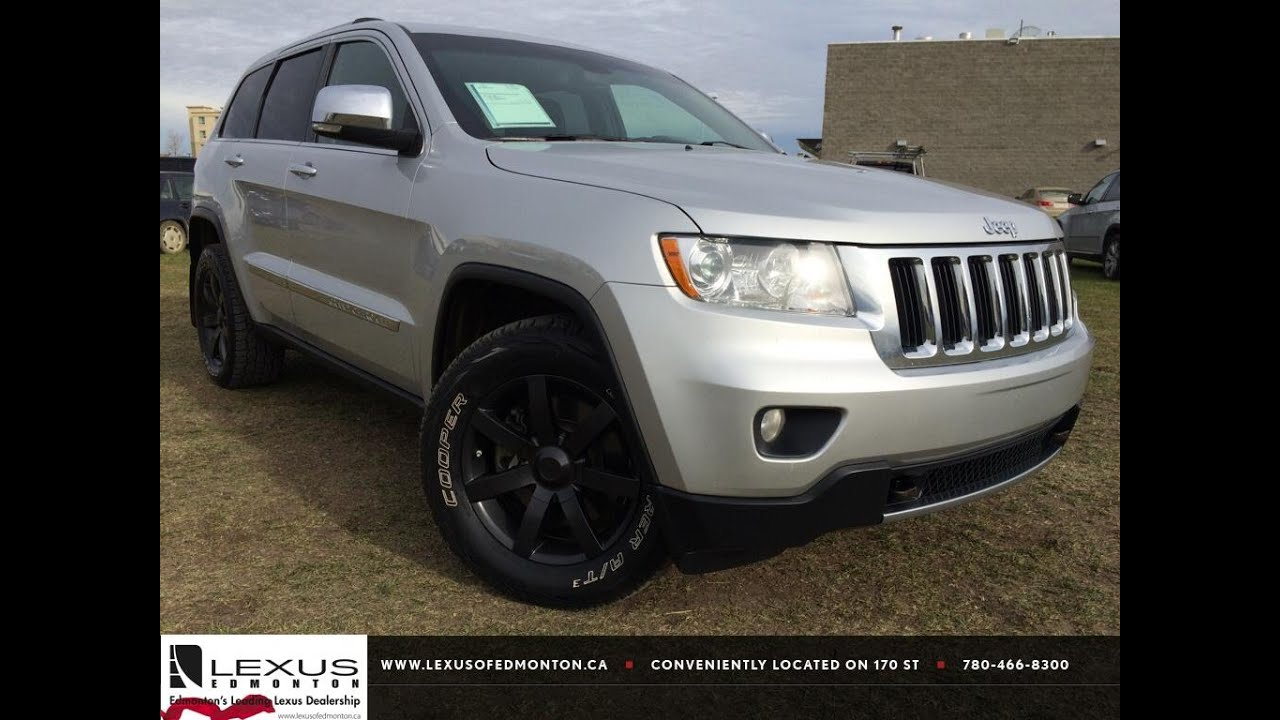 Pre Owned Silver 2011 Jeep Grand Cherokee 4WD Limited Review Airdrie Alberta