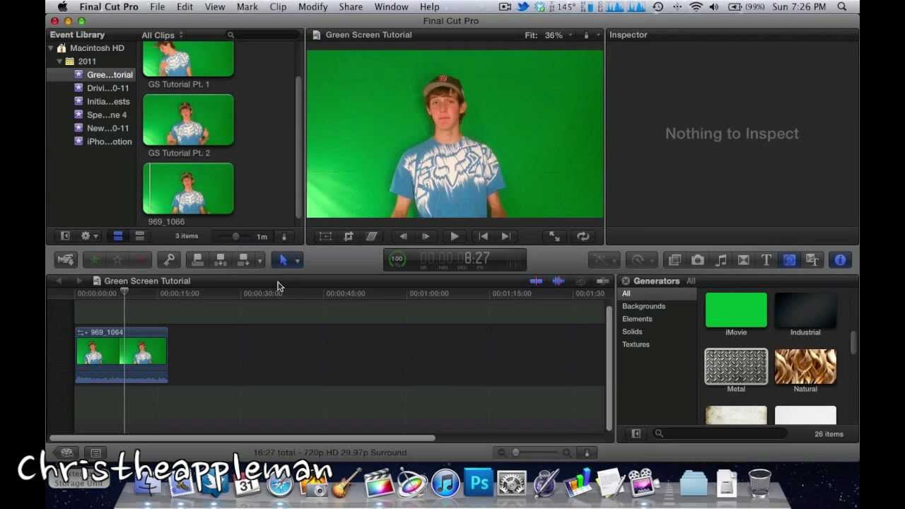 How to Use a Green Screen in Final Cut Pro X (Chromakeying)