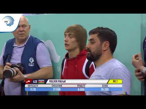 Mikhail MALKIN (AZE) - 2018 Tumbling European Champion