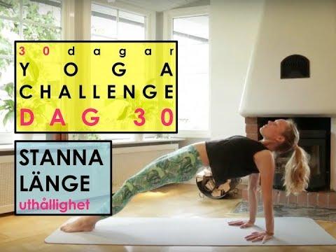 Dag 30 - 30 dagar YOGA CHALLENGE med Helena - Stanna lite längre