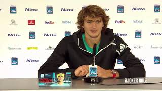 "Alexander Zverev ""Is very tough to beat Djokovic"" - ATP Finals 2018 (HD)"