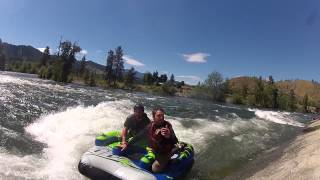 Lance and River Surfing the Atomic 4