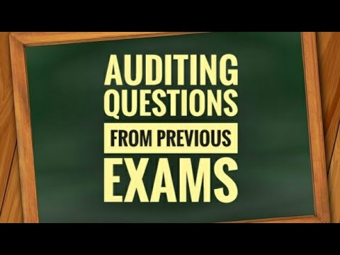 Auditing Questions from Previous Exams ll Junior Clerk