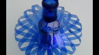 Repeat youtube video Cómo hacer una lámpara reciclando botellas de plástico - How to recycle plastic bottles