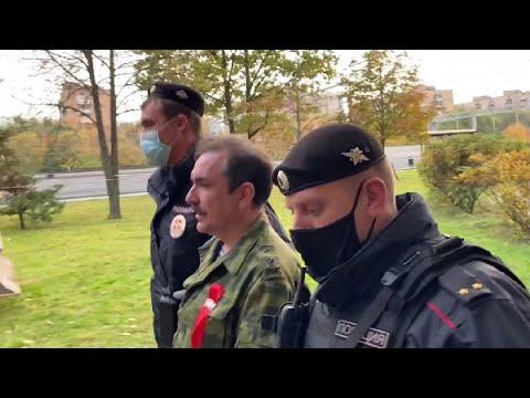 Задержание полковника Михаила Шендакова полицией в Москве