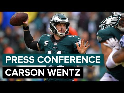 QB Carson Wentz Discusses First Game Back From Injury & More | Eagles Press Conference