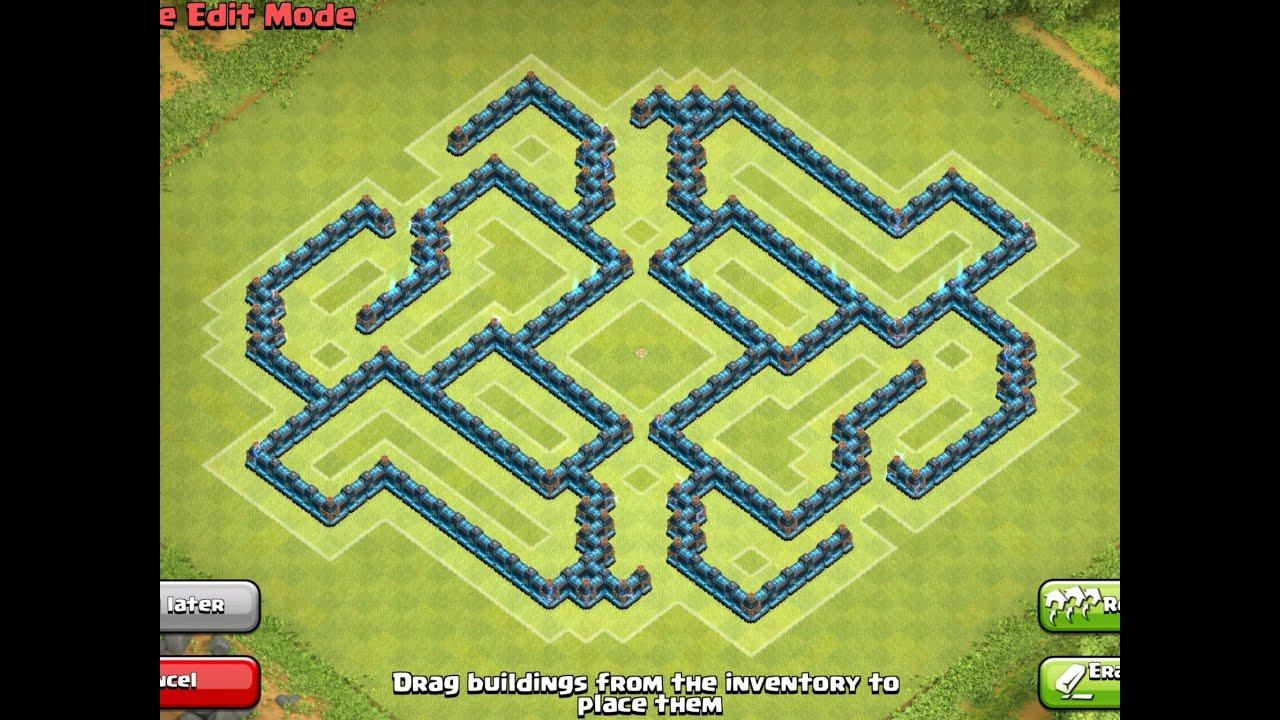 Base Farming Hybrid War Town Hill Th 7 8 9 10 YouTube