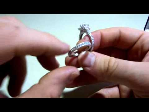 Rongxing Jewelry engagement rings white gold Women's Sets Cubic Zirconia Silver Crystal Couple Size