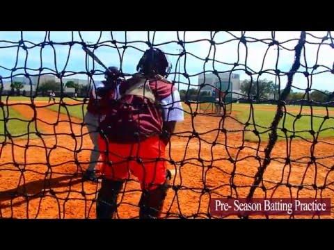 Student Athlete J McCormick Pre Season Batting