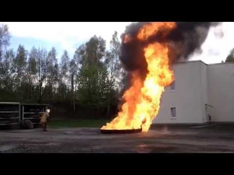 How to use the dry chemical extinguisher II.