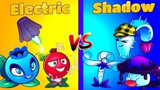 Plants vs Zombies 2 It's About Time -  Electric vs Shadow Plants - Team vs Team PVZ 2 Primal Game