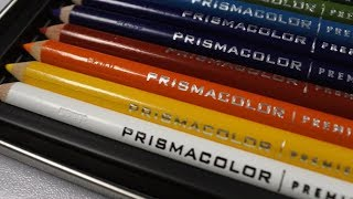 PRISMACOLOR 12 COLORS UNBOXING