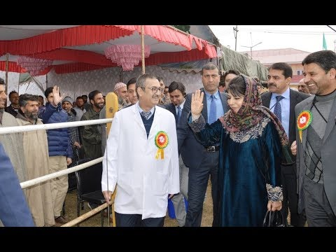 Mehbooba lays foundation stones of college, hospital blocks at SKIMS