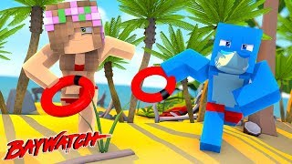 SHARK ATTACK ON THE BEACH!   Minecraft Baywatch   Little Kelly