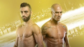 Italian-armenian superstar giorgio petrosyan faces french warrior samy sana in the one featherweight kickboxing world grand prix championship final at one: c...