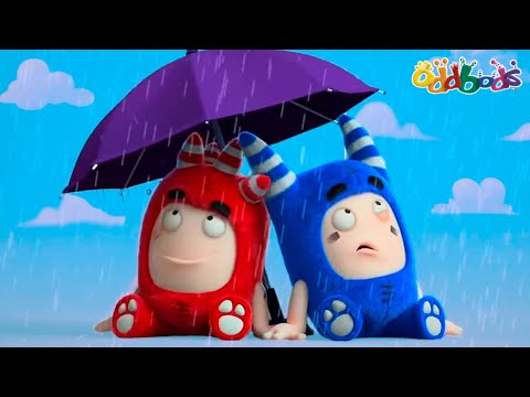Oddbods | NEW | RAIN RAIN GO AWAY! | Funny Cartoons For Kids