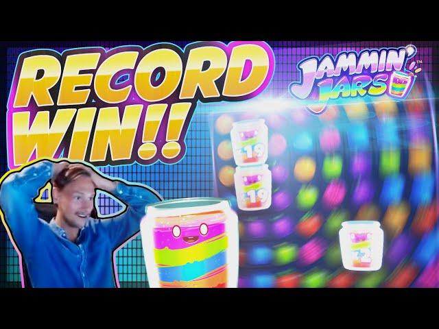 RECORD WIN!! Jammin Jars BIG WIN - MASSIVE WIN on Online Slot from Casinodady