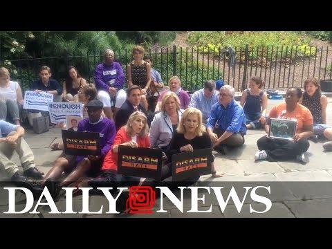 Congresswoman Carolyn B. Maloney rally gun control suporters in New York