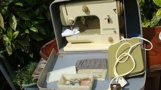 Old Vintage Antique 1960 Swiss  Bernina Sewing Machine Model 600 * See Video *