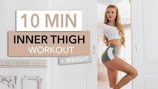 10 MIN INNER THIGH WORKOUT - tighten the inner part of your legs / Intense I Pamela Reif