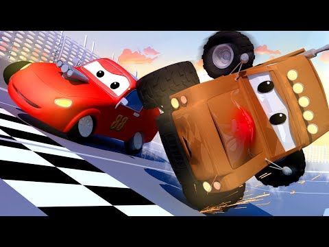 Marley the Monster Truck Brokes his Nose - Amber the Ambulance in Car City l Cartoons for Children