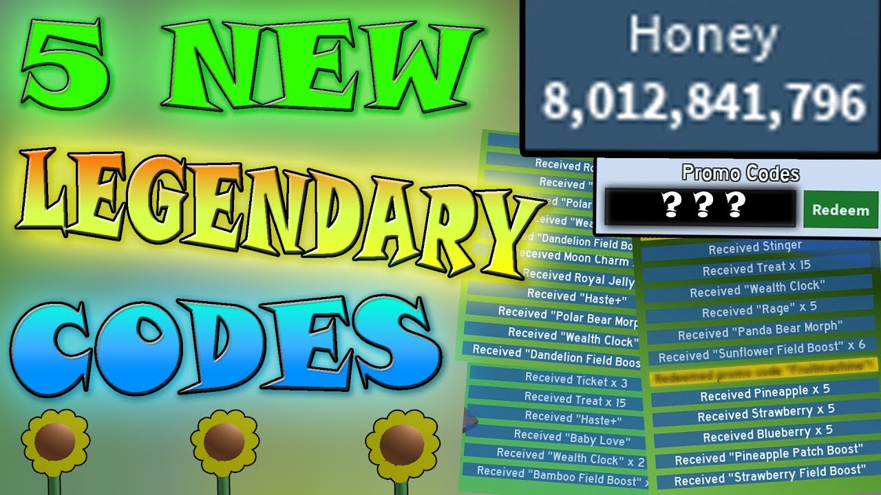 5 New Codes Give So Much Honey Roblox Bee Swarm Simulator