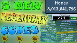 5 *NEW CODES* GIVE SO MUCH HONEY!!! - Roblox Bee swarm simulator
