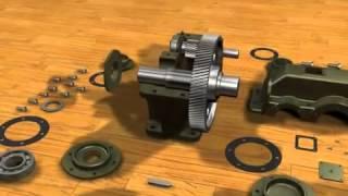 Анимация құрастыру цилиндрлік редуктор