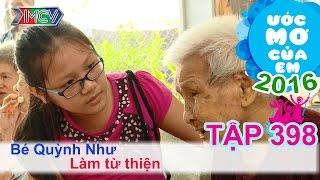 Thùy Trang cùng bé làm từ thiện - bé Quỳnh Như | ƯỚC MƠ CỦA EM | Tập 398 | 14/02/2016